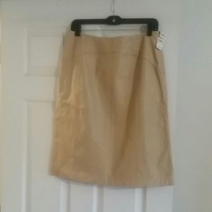 Talbots leather skirt
